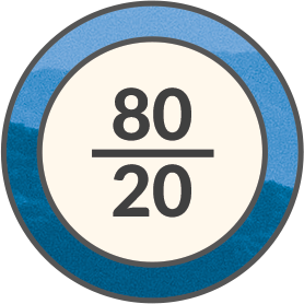 80/20 Owner Split Icon