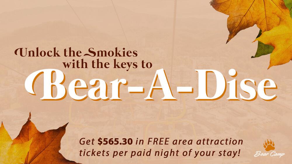 Bear Camp Keys To Bear-A-Dise - Unlock The Smokies