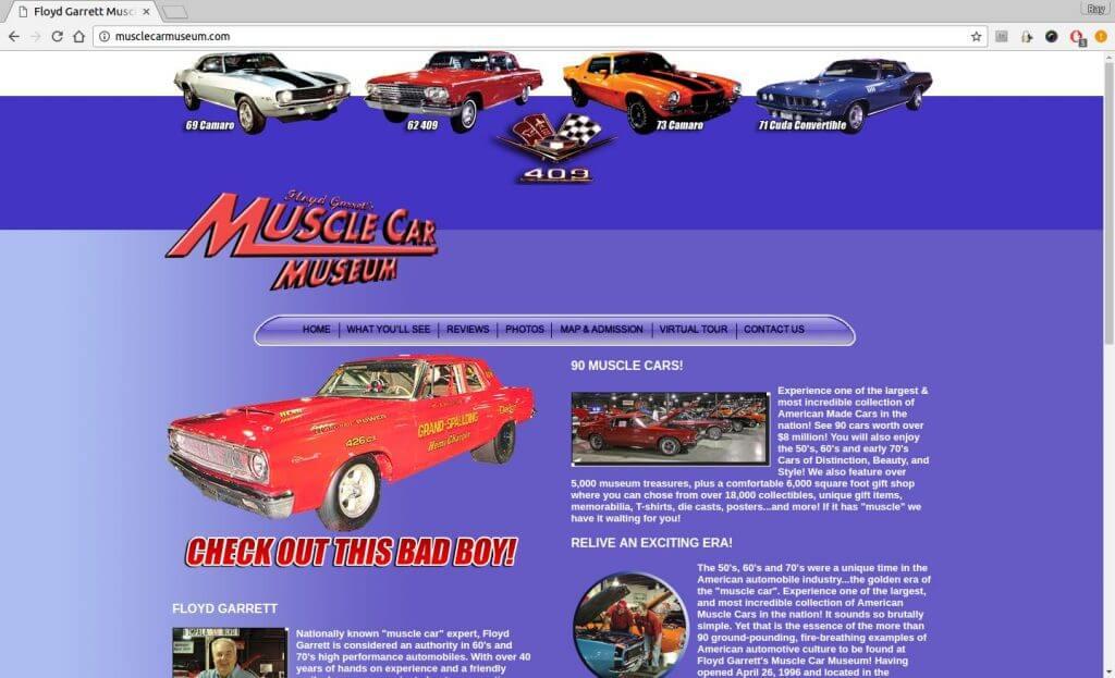 Sevierville Attractions: Floyd Garrett\'s Muscle Car Museum - Bear ...